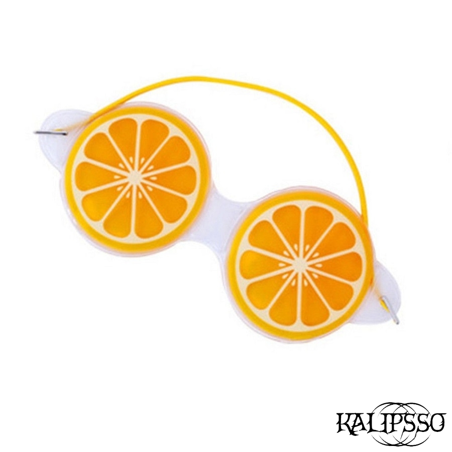 Гел маска за очи портокал / Маски за сън / Маски за мотор..